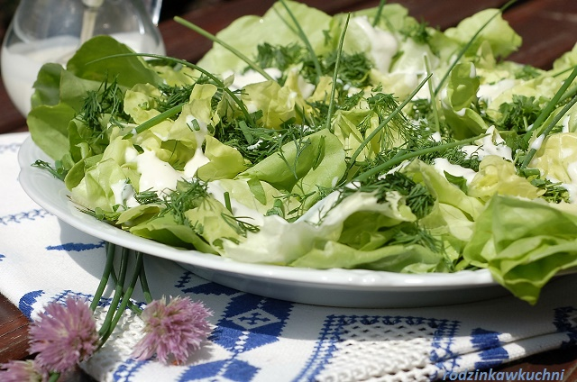 sałatka na grilla_salatka zielona_sałatka wegetariańska