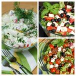 Sałatki grillowe – grecka, rzodkiewkowa, ze szpinakiem
