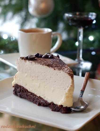 sernik Biały Rosjanin_sernik gotowany_sernik na spodzie czekoladowym_sernik z musem kawowym