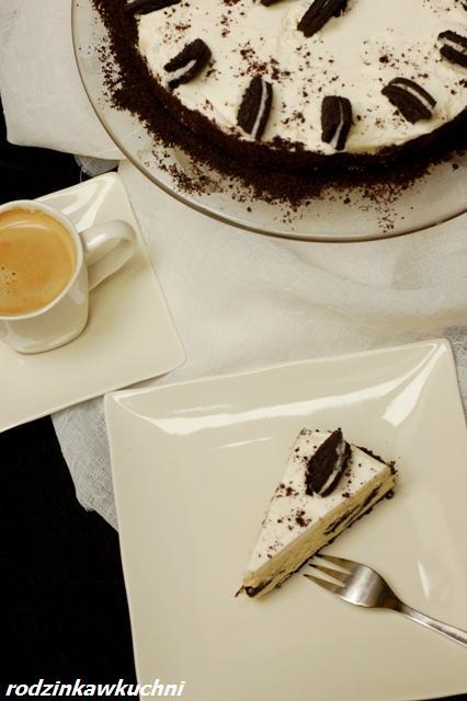 Sernik biało-czarny_sernik pieczony_sernik z ciastkami