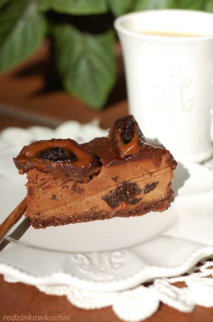 sernik śliwka w czekoladzie_sernik czekoladowy_sernik kremowy_sernik bezglutenowy_ciasto bezglutenowe