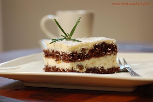 sernik przekładany_sernik_sernik z ciastem czekoladowym_Wielkanoc