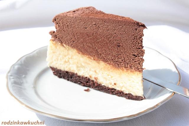 sernik z truflą czekoladową i baileys_sernik pieczony z czekoladą _sernik z truflą