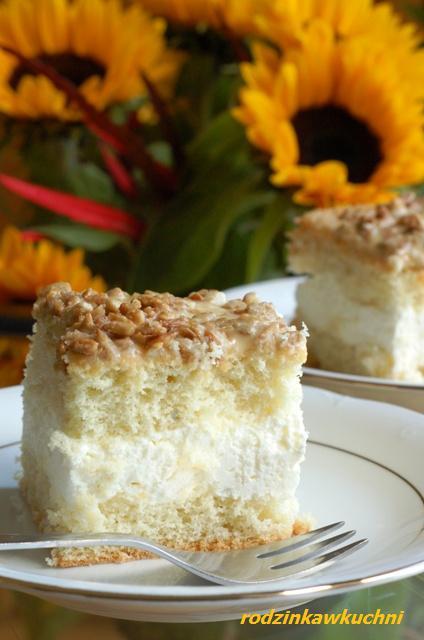 słonecznikowiec_biszkopt_ciasto z kremem