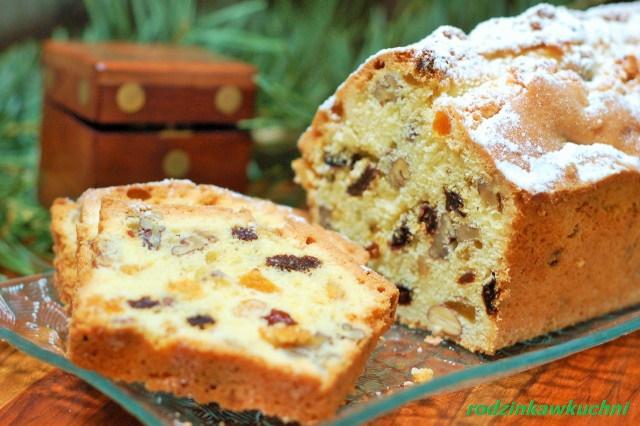 Świąteczny keks_ciasto z bakaliami_ciasto ucierane_cisto na Boże Narodzenie