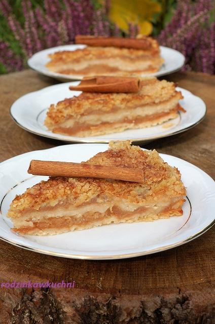 jabłecznik sypany jaglano-owsiany_szarlotka sypana_ciasto z jabłkami_ciasto bezglutenowe