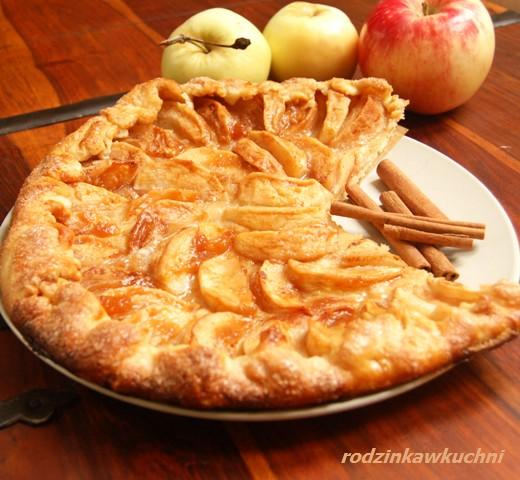 tarta rustykalna z jabłkami_ciasto z owocami_ciasto kruche_tarta