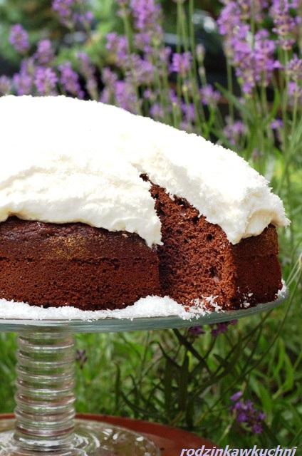 torcik raffaello_torcik na koniakówce_torcik kokosowy_ciasto czekoladowe z kremem