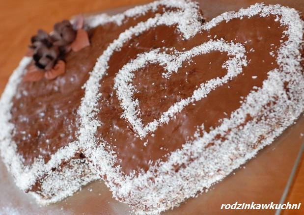 Walentynkowy torcik tiramisu_ciasto czekoladowe_ciasto z kremem