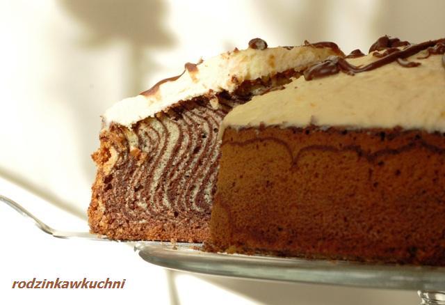 torcik zebra_ciasto ucierane_ciasto z kremem_zabawy kuchenne