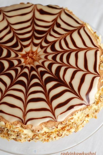 tort węgierski Esterhazy_tort migdałowy_tort z kremem maślano-budyniowym_tort dla gości_Boże Narodzenie