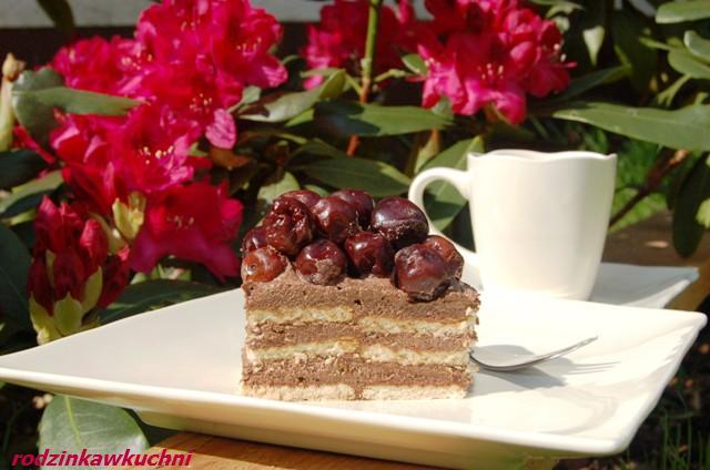 Tort kukułka_ciasto z kremem_ciasto bez pieczenia_ciasto z alkoholem_ciasto z owocami