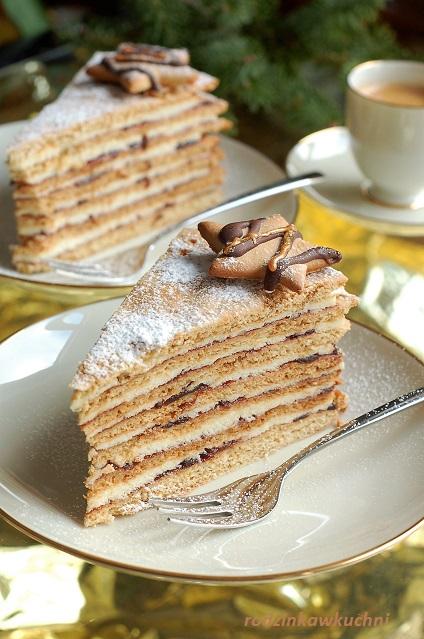 tort miodowa stefanka_tort miodowy_tort z kremem z kaszy manny_tort z powidłami_tort wielowarstwowy