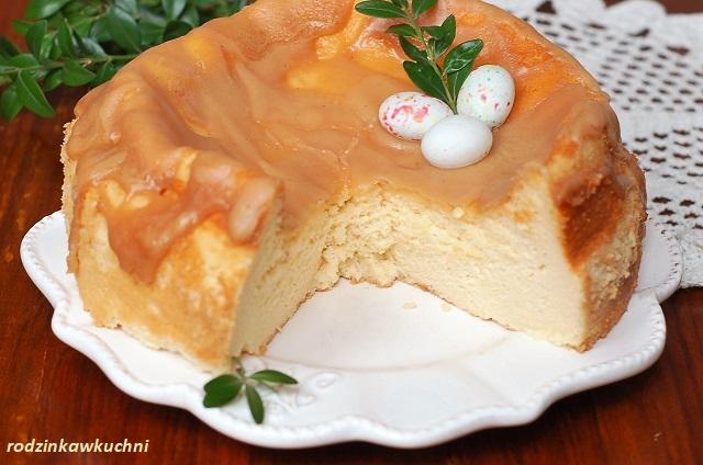 Sernik tradycyjny, czyli tort serowy_sernik na pianie_sernik starodawny_sernik z polewą_sernik wielkanocny