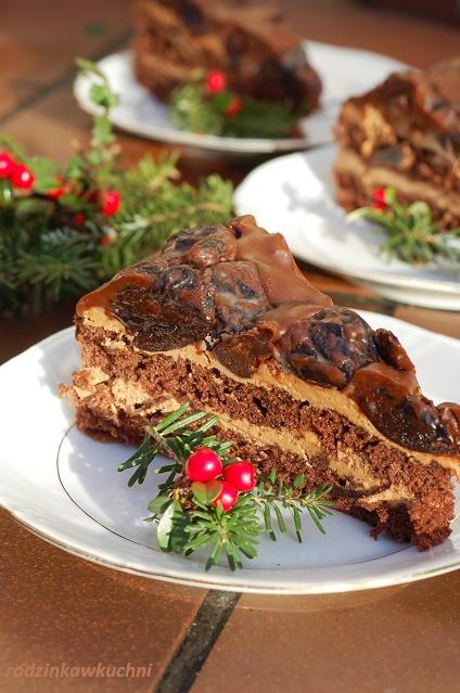 Tort śliwka w czekoladzie_tort czekoladowy_tort z alkoholem_tort na Boże Narodzenie