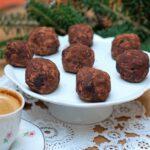 Trufle krówkowo-czekoladowe ze śliwkami