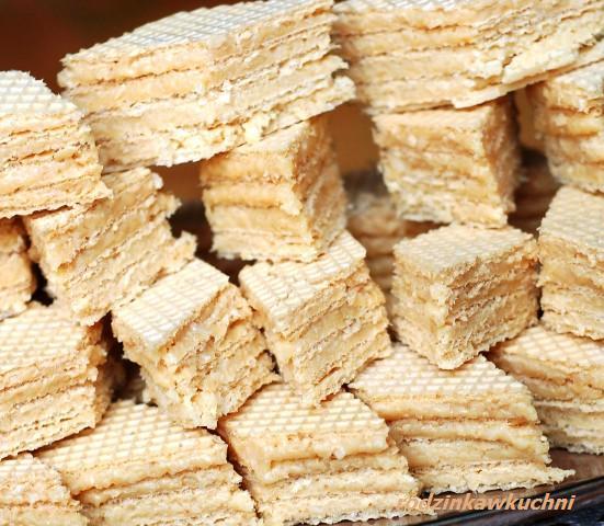 wafelki kokosowo-kajmakowe_ciasteczka_słodkości bez piekarnia