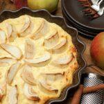 Zapiekanka serowo-jaglana z jabłkami