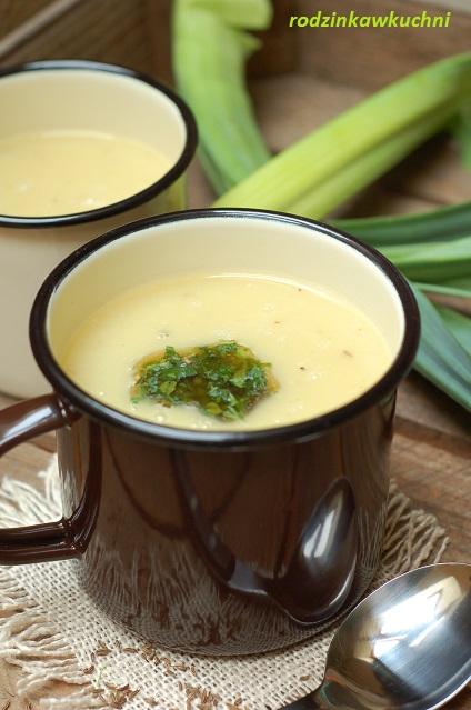 zupa krem z porów_zupa warzywna_zupa wegetariańska