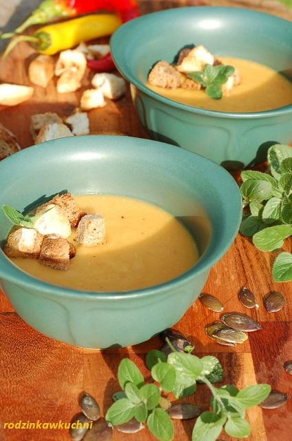 zupa krem z soczewicy i pomidorów_zupa wegetariańska_zupa warzywna_rosliny strączkowe