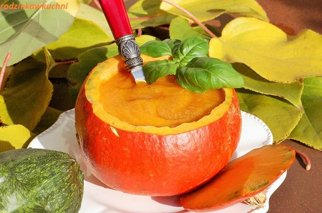zupa z pieczonej dyni i pomidorów_zupa jesienna_zupa krem