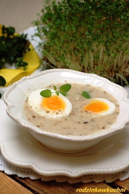 świateczny żurek_kwaśna zupa_zupa na Wielkanoc