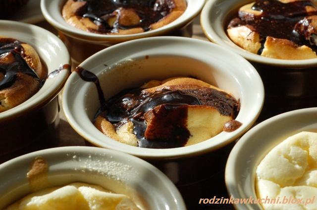 muffinki czekoladowo-serowe