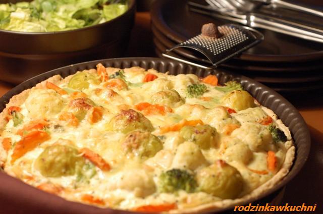tarta warzywana_wytrawne ciasto_danie wegetariańskie